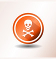 skull and crossbones icon in flat design vector image vector image