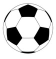 soccer ball black and white flat icon vector image