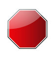 stop traffic road sign blank vector image vector image
