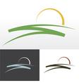 sunrise symbol design vector image vector image