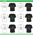 t shirt decorative designs collection vector image