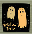 trick or treat calligraphic poster with ghosts vector image