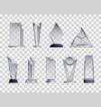 trophies transparent set vector image vector image