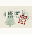 typographic grunge stencil splash christmas card vector image vector image
