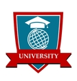University emblem vector image vector image