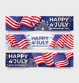 usa independence day three horizontal banners vector image