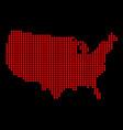 usa outline dot map vector image