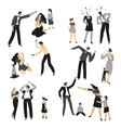 violence and quarrels in family mom and dad vector image vector image