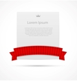 White card with ribbon vector image vector image