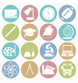 white icons education vector image