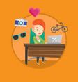 woman shopping online vector image vector image