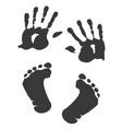 children s handprint and footprint vector image