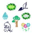 eco logo set vector image
