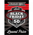 template retro poster for Black Friday vector image