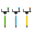 Three different color Monopods vector image