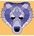 Blue low poly lined bear vector image