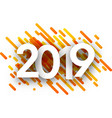 2019 new year background with orange strokes vector image vector image