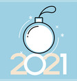 2021 happy new year background holiday gift card vector image vector image