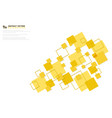 abstract minimal yellow color square technology vector image vector image