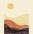 abstract mountain landscape minimalist design vector image