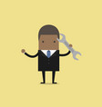 african businessman with a spanner vector image vector image