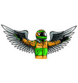 angel pilot man design draw vector image vector image