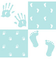 baby boy handprint footprint set vector image vector image