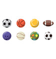 balls icon set cartoon style vector image