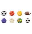 Balls icon set cartoon style