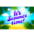 Beautiful landscape with text Summer time Summer