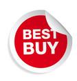 best buy label sticker vector image
