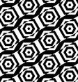 Black and white alternating rectangles cut through vector image vector image