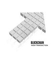blockchain in form of vector image vector image