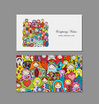 business cards set matryoshka russian nesting vector image vector image