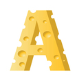 cheese letter A vector image vector image