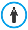 Clerk Flat Rounded Icon vector image vector image