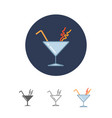 cocktail in martini glass vector image