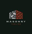 construction masonry architecture logo design insp vector image vector image