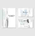 corporate identity template in blue grey colors vector image