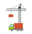 crane machine icon vector image vector image