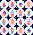 Cute Hand drawn colorful seamless pattern with cup vector image vector image