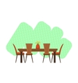 Dining Room Interior Design vector image vector image