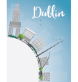 Dublin Skyline with Grey Buildings vector image vector image