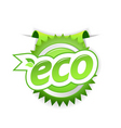 eco badge vector image vector image