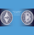ethereum digital currency icons and symbols vector image vector image