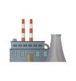 factory industrial works building steel vector image