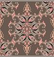 flourish orient pattern floral seamless background vector image