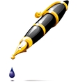 fountain pen blotch vector image vector image