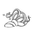 funny and friendly cartoon snake with butterflies vector image