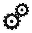 Gear wheels black simple icon vector image vector image